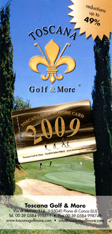 Brochure golf clubs Toscana Golf & More edizione 2009